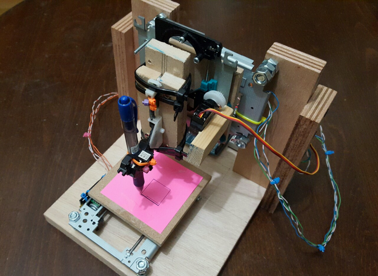 Mini arduino cnc ploter w dvd rom parts by maroulla